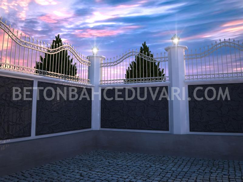 Beton bahçe duvar kalıpları satış uygulama beton duvar bahçe